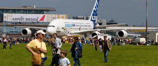 Airbus A380 als Anziehungspunkt auf dem AIRPORT BREMEN