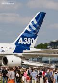Airbus A380 als Zuschauermagnet auf dem Event