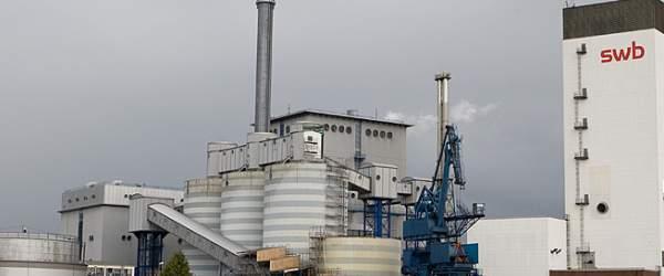 swb Kraftwerk in Bremen-Hastedt mit abgetragenem Kohlesilo (Silo 4)