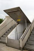 Ausgang am Weserwehr - Stufe 2