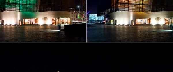 Deutsches Auswandererhaus Bremerhaven bei Nacht