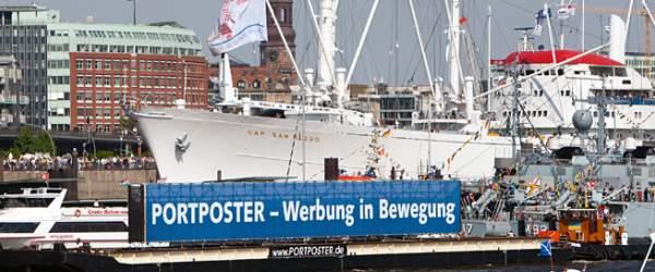 Werbung auf der Elbe