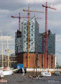Die Elbphilharmonie Hamburg im Bau.