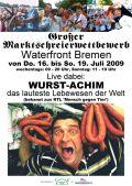 Marktschreier Wurst-Achim an der Waterfront Bremen