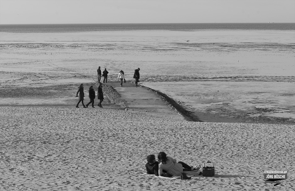 Strand und Wattenmeer in Cuxhaven