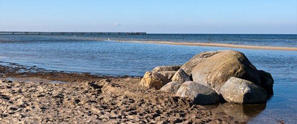 Felsen am Strand von Lubmin, Greifswald