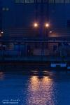 Blaue Stunde am Weserwehr Bremen am Abend des 20.April 2008