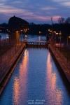 Blaue Stunde am Weserwehr Bremen