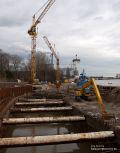 Baustelle des Weserkraftwerk am Weserwehr Bremen