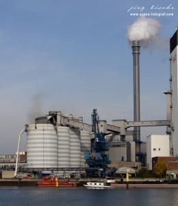 Steinkohlesilo Unfall im Bremer swb Kraftwerk Hastedt
