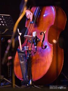 Musikinstrument Kontrabass auf dem Benefizkonzert for the children