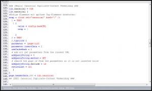 Typo3: Canonical MetaTag für Suchmaschinen