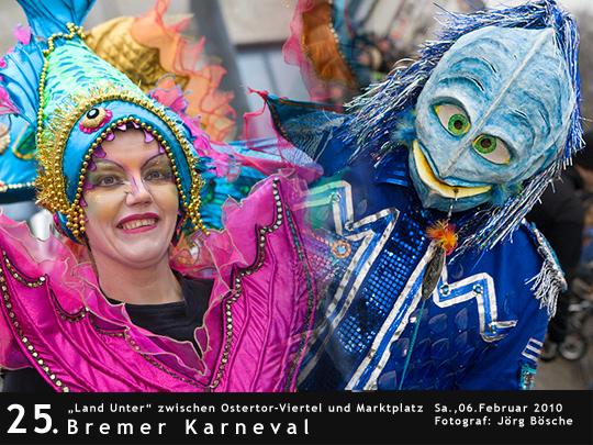 Fotos vom Bremer Karneval unter dem Motto Land Unter