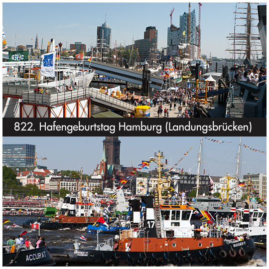 822. Hafengeburtstag in Hamburg an den Landungsbrücken