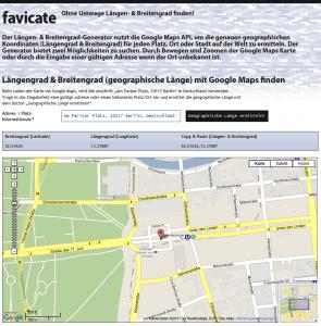 Längengrad & Breitengrad (geographische Länge) mit Google Maps finden