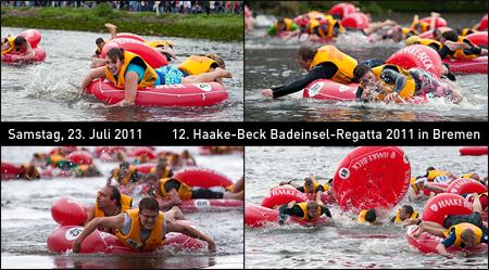 Fotos von der 12. Haake-Beck BadeinselRegatta 2011