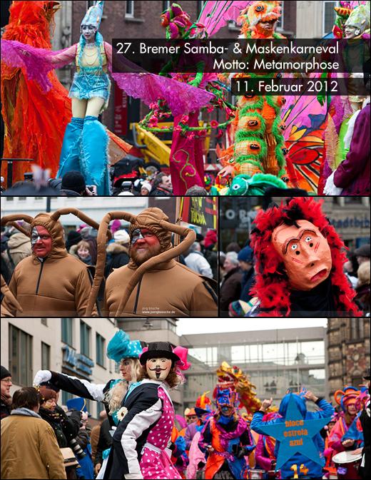 27. Bremer Karneval unter dem Motto Metamorphose, zwischen Marktplatz & Ostertor