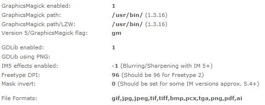 TYPO3 CMS - InstallTool - Image Processing mit GraphicsMagick