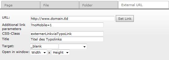 TYPO3 Fluid: Typolink mit Target/Class/AdditionalParams/Title aus Flexform/TCA-Config im Fluid-View rendern