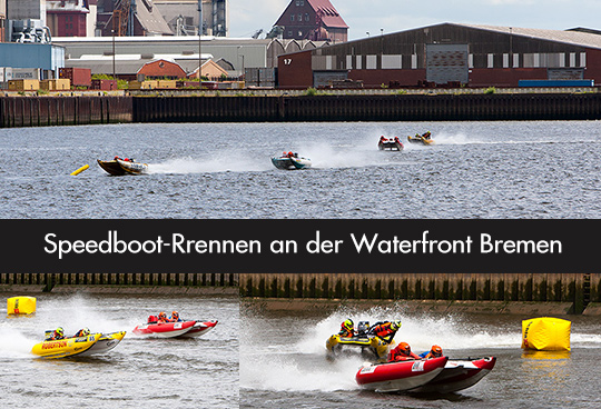 Speedboot-Rrennen an der Waterfront